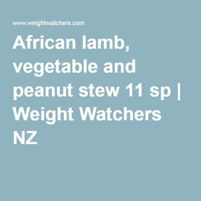 African lamb, vegetable and peanut stew 11 sp   Weight Watchers NZ