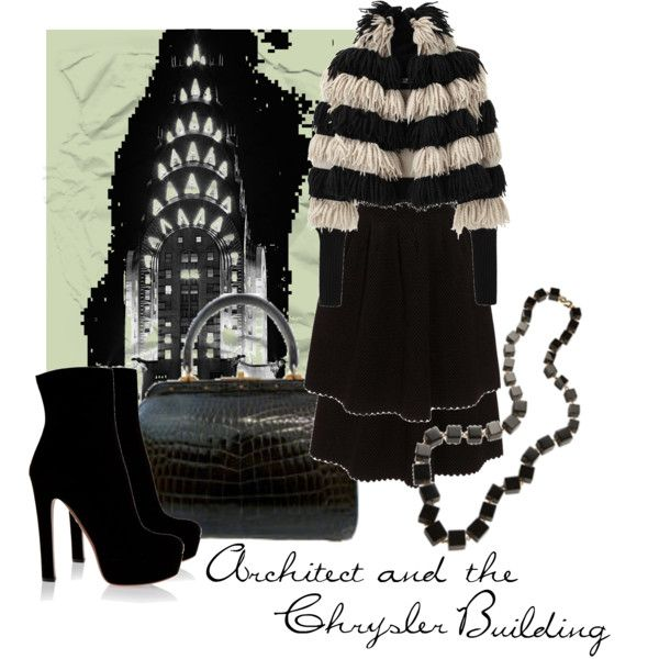 """Architect and The Chrysler Building"" by moodycat on Polyvore"
