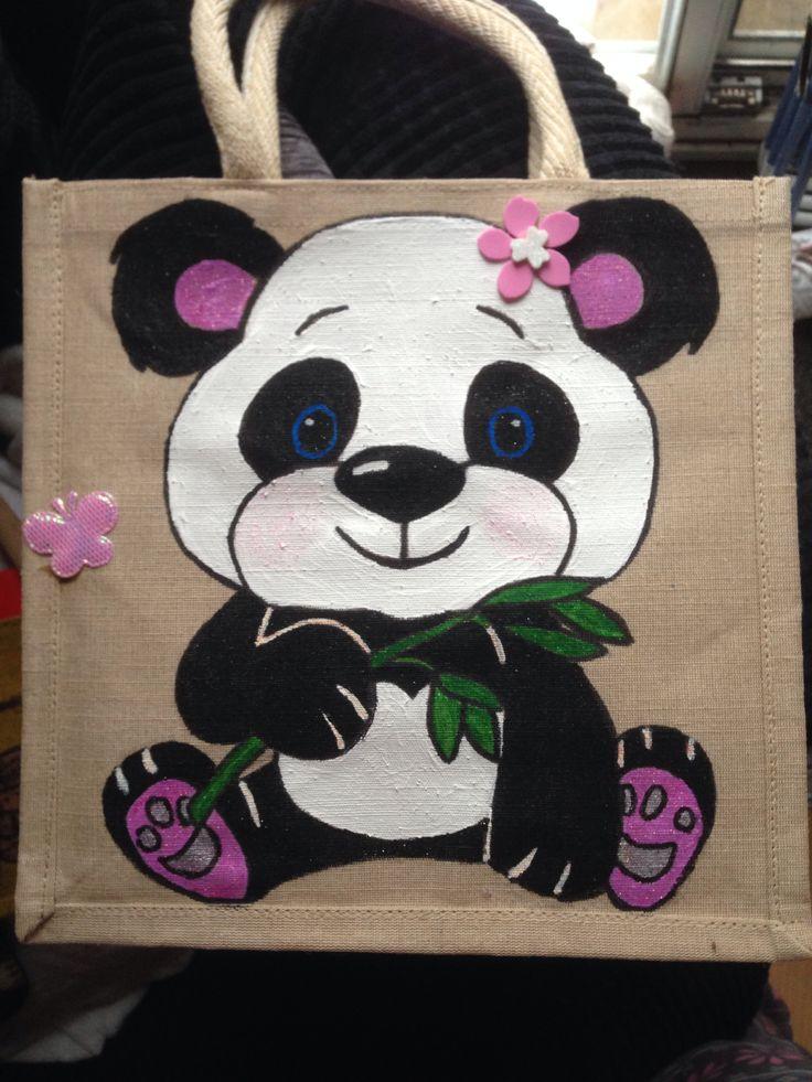Hand painted jute bag. By me :-)