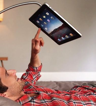 Use the iPad hands free...hahaha could have used this last night  See More Ipads & Accessories at http://buyipad2reviews.com/