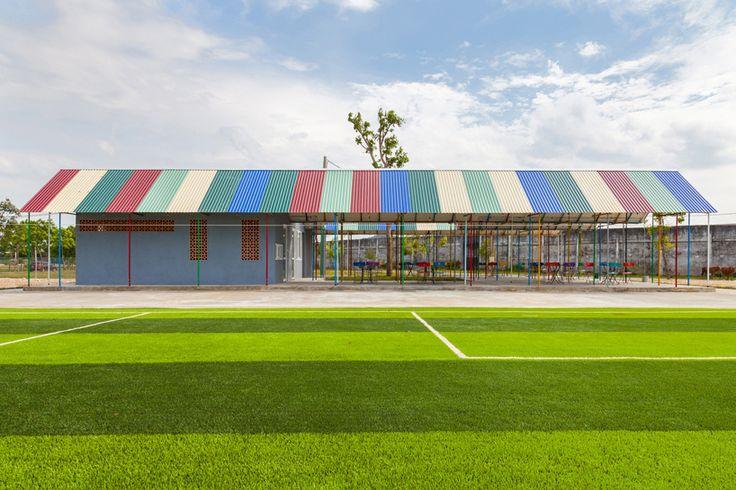 H&P architects re-ainbow community center duc tho vietnam designboom