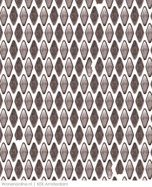 ritme, de verschillende kleuren ruitjes die terug blijven komen in een zigzaggend effect