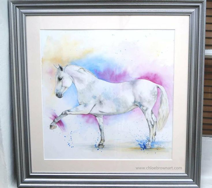 contemporary watercolour painting horse painting by chloe brown
