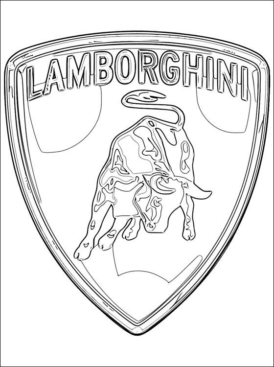 Lamborghini Logo Coloring Pages  For Kids  Pinterest  Logos