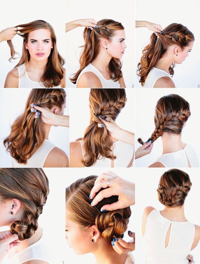 1001 Inspirierende Ideen Fur Einfache Frisuren Fur Den Alltag Geflochtene Frisuren Flechtfrisuren Mittellange Haare Frisuren Flechten