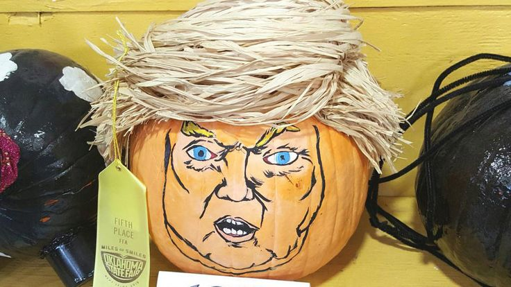 Trumpkin Donald Trump Jack-O-Lantern #GOP #Republican #politics #Halloween