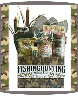 DIY Gift Basket Idea Hunting Or Fishin Gear For Male Coworker Groomsmen Boyfriend