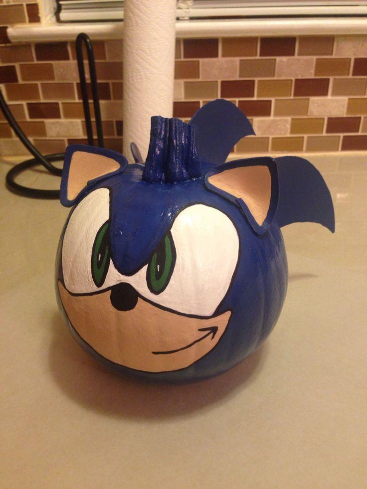 Sonic the Hedgehog Pumpkin Painting 2014