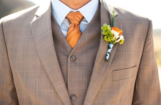 Brides, Bridesmaids & Blooms: Groomsmen In Orange ... Accessories, Please No Orange Prom Tuxedos :)