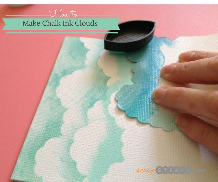 How to make chalk ink clouds with a stencil