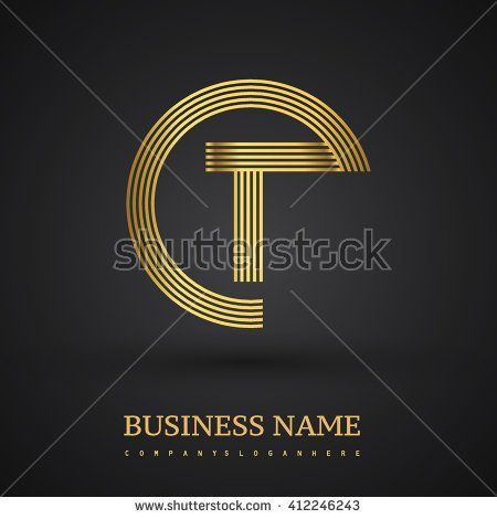 Elegant gold letter symbol. Letter T logo design. Vector logo design template elements  for company identity. - stock vector