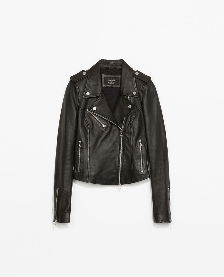 blouson motard en cuir vestes femme collection ss15 zara france style pinterest. Black Bedroom Furniture Sets. Home Design Ideas