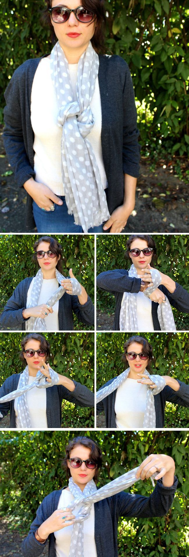 13 Super Stylish Ways to Tie a Scarf | http://hellonatural.co/how-to-tie-a-scarf/