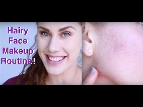 Peach Fuzz? Hairy Face Foundation Tutorial! | Cassandra Bankson - YouTube