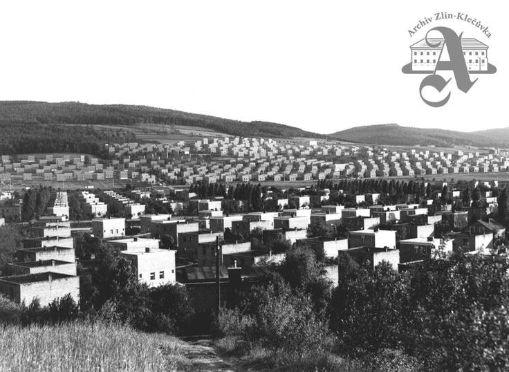 Residential districts on the eastern edge of Zlín, 1938