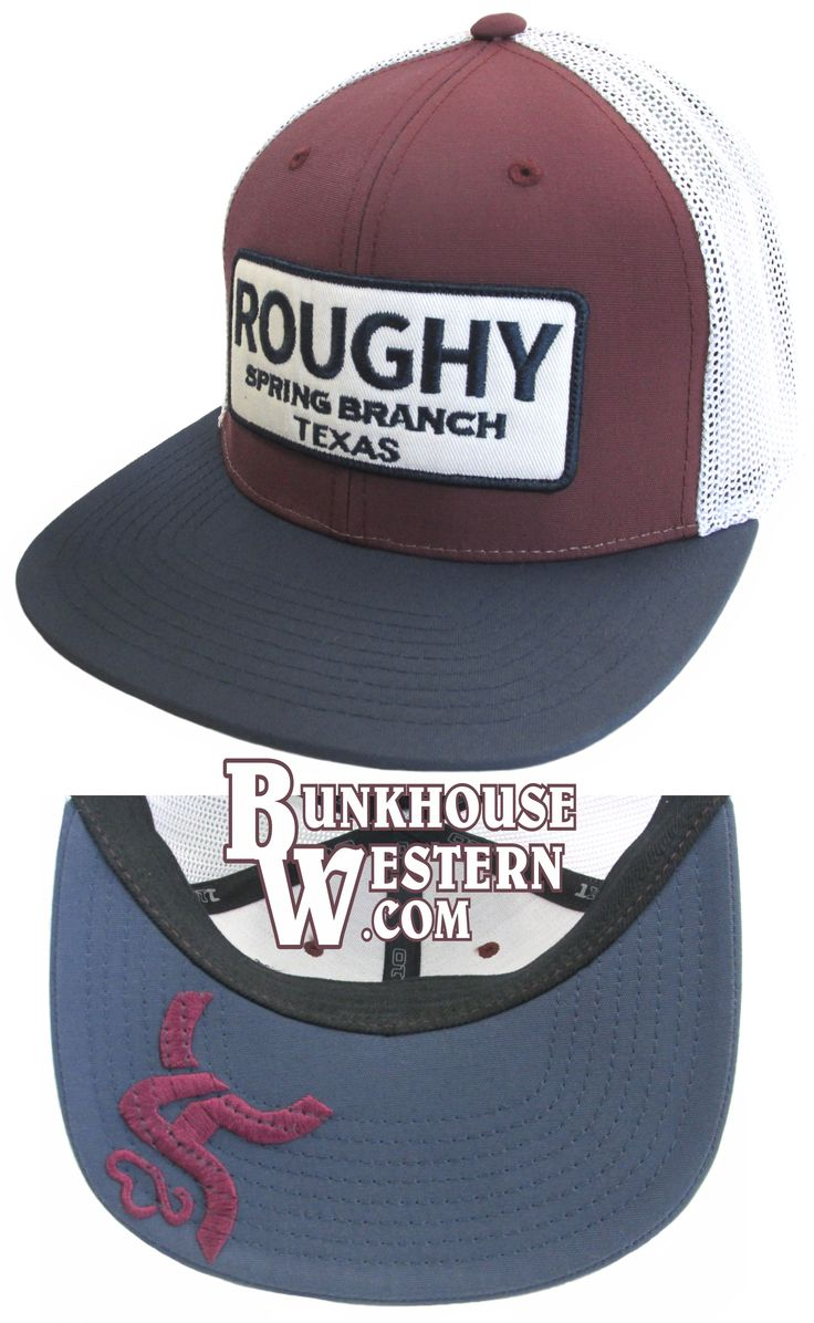 Roughy, Signature Trucker Cap, Red, White, and Blue, Navy, Maroon, Bull Riding, Saddle Bronc Rider, Rodeo, Cowboy Hat, Roughstock, PBR, PRS, $29.98, http://bunkhousewestern.com/RSHC