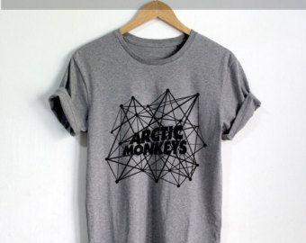 Arctic Monkeys chemise l'Artic Monkeys chemises Tshirt T-shirt Tee Shirt noir gris et blanc taille unisexe - NK35