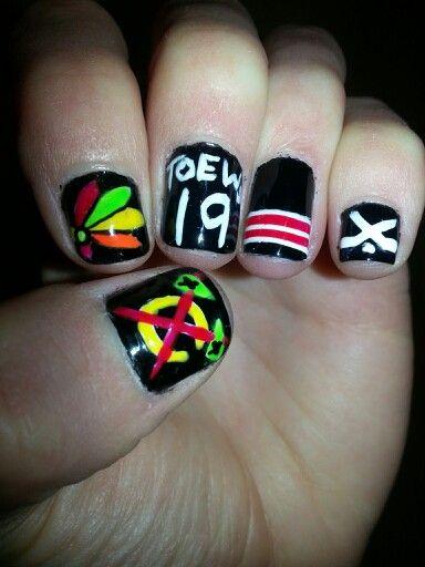 Blackhawks hockey nails!