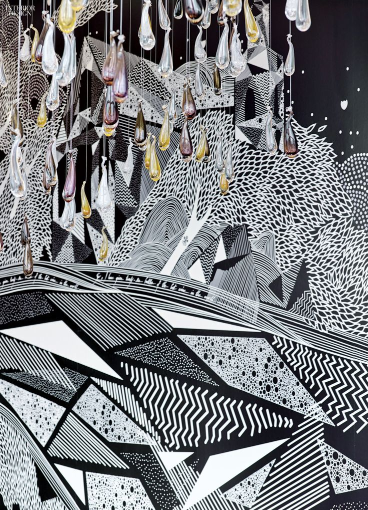 A printed vinyl mural commissioned from artists known as Alex etMarine enlivens the New York Palace's Champagne Suite, one of the specialty venues that HOK renovated for the Midtown hotel. Photography by Eric Laignel.