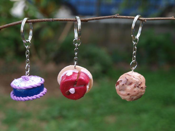 polymer clay keychains!