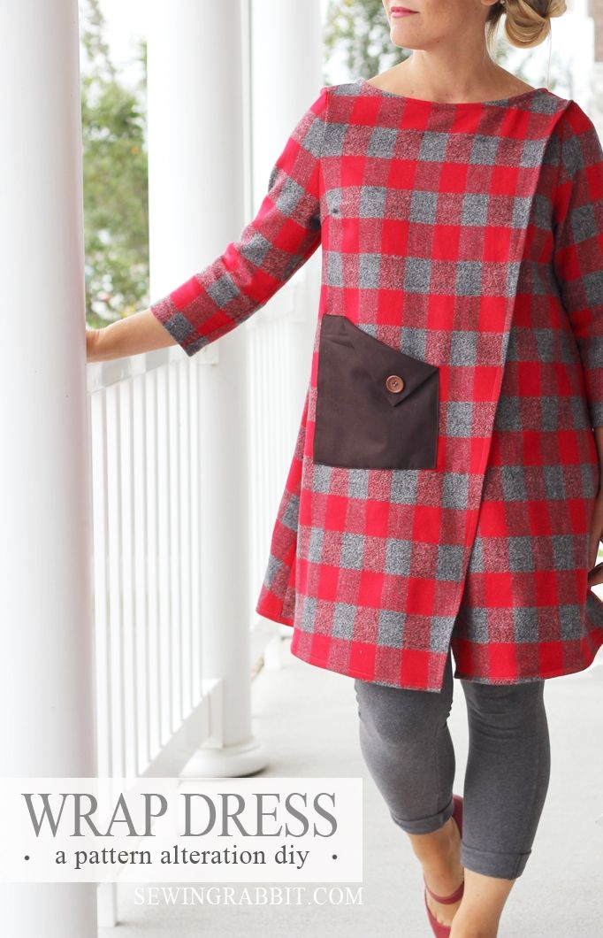 DIY Wrap Dress by @mesewcrazy | Plaid Fabric from @joannstores