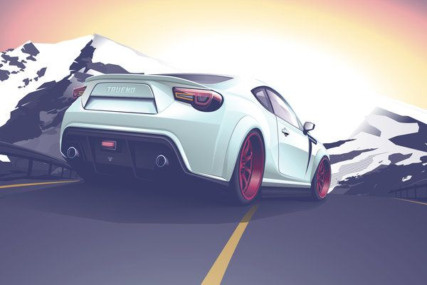 ft gt 86 toyota vector art by depot-hdm (print image)
