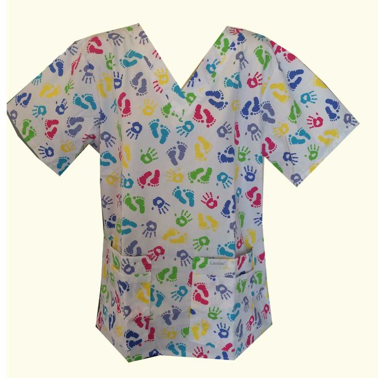 Ten Little Fingers Scrub Top 8219 | Hunter Scrubs