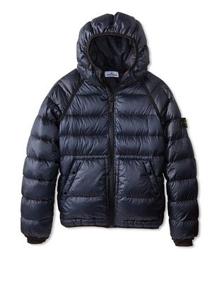46% OFF Stone Island Kid's Down Puffer Jacket (Blue Marine)