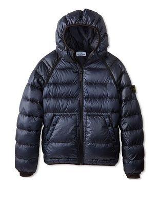 46% OFF Stone Island Kid's Down Puffer Jacket (Blue Marine)