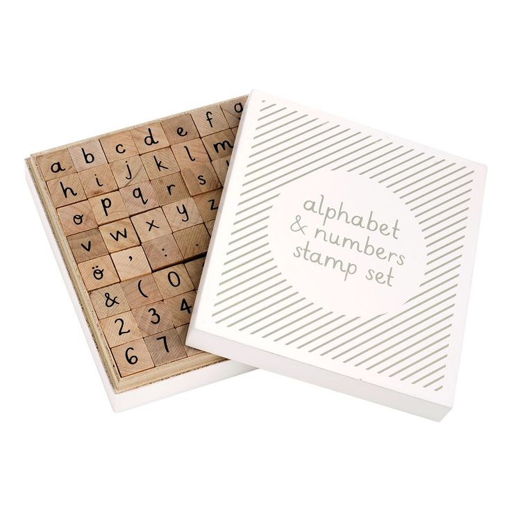 WOODEN ALPHABET & STAMP SET: can make so many things with this...thinking of christmas stuff