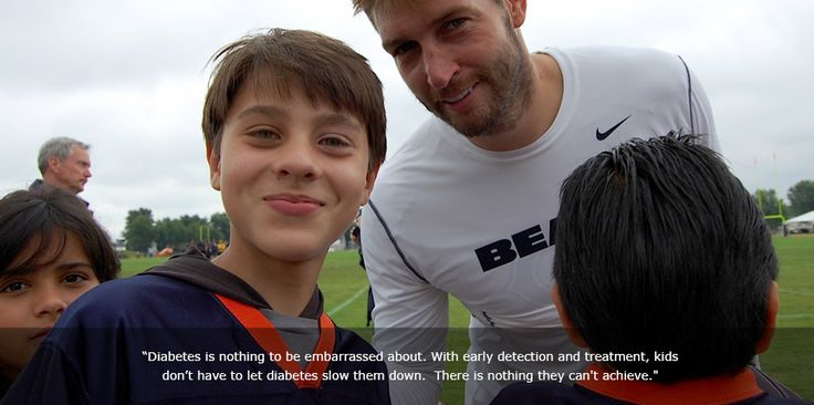 Jay Cutler, #6 is QB for the Chicgo Bears. You probably know that, but perhaps you did not know he was diagnosed with type 1 diabetes in 2007 at the age of 24.