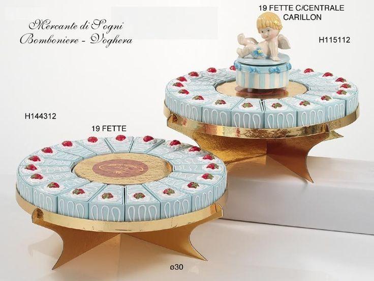 """Mercante di Sogni - Voghera - Bomboniere e Stampati dal 1969 - Vendita ai privati: Collezioni Classic: torta fette porcellana  Collezione """"CLASSIC"""" TORTE CON FETTE IN PORCELLANA E SOGGETTO CENTRALE ANGELO CARILLON  D.33 x H.15cm Articoli adatti alle cerimonie di Battesimo  Read more: http://mercantedisognivoghera.blogspot.com/2015/08/collezioni-classic-torta-fette.html#ixzz3kEpJShjr"""
