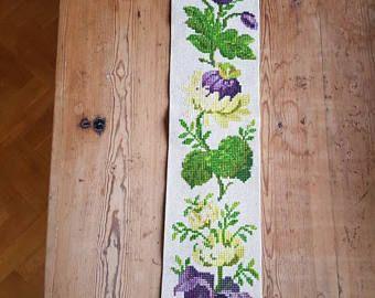 Hermosa floral bordado del colgante de pared de Suecia