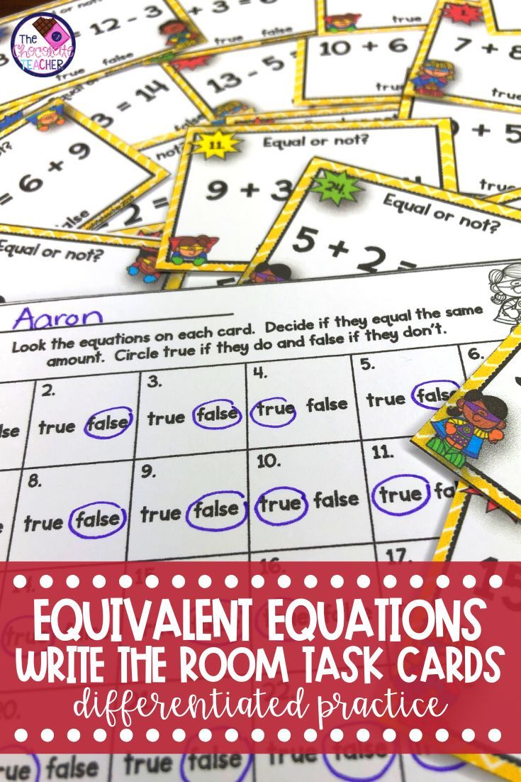 Addition Subtraction Equivalent Equations With The Equal Sign Write The Room Addition And Subtraction Equations Cool Writing Addition and subtraction balancing