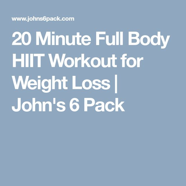 20 Minute Full Body HIIT Workout for Weight Loss | John's 6 Pack
