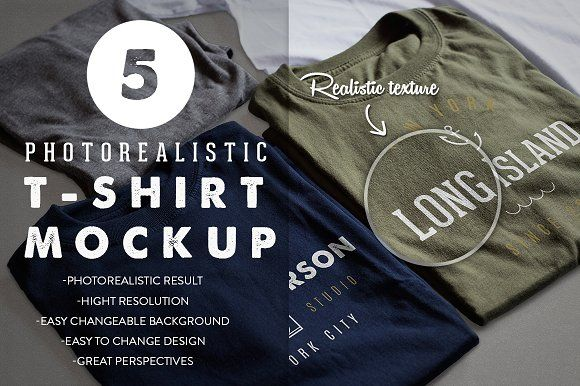 Nice..Photorealistic T-Shirt Mockup by Antonio Padilla on @creativemarket