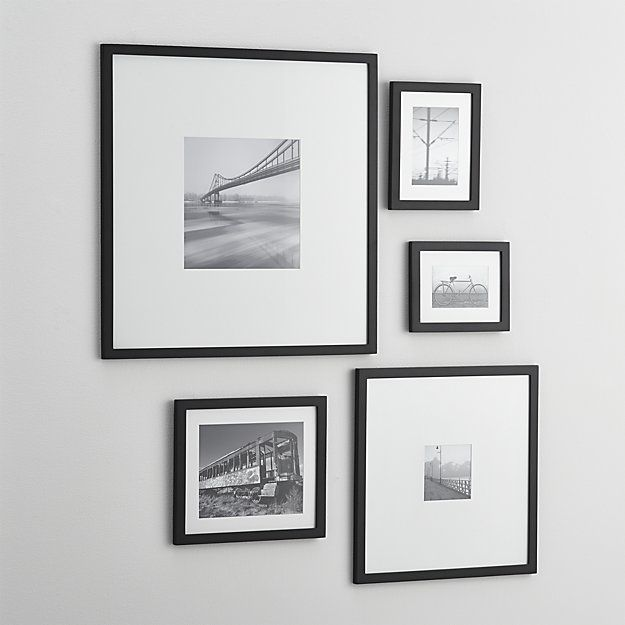 5-Piece Matte Black Picture Frame Set | Crate and Barrel