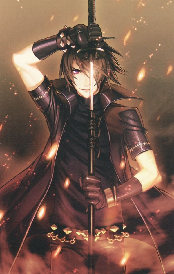 This cool looking hot anime guy is called shiki. He is from Togainu no chi.
