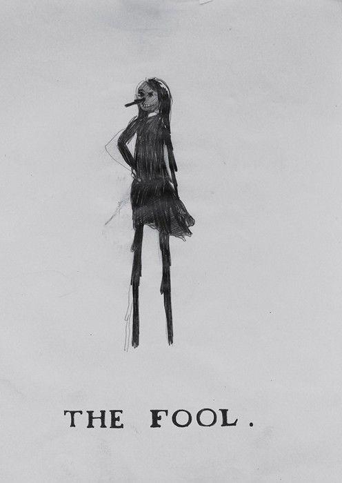 The Fool tarot card design by Klara Kristalova.