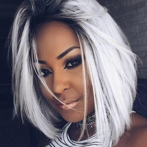 Part Lace Front Wig LH-Nicky - PLATINADA - BlackWigBrasil - 1