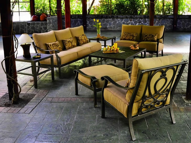 Luxury Patio Furniture With A Old World Style Is Available In The Madrid  Patio Set From