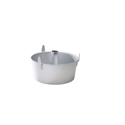 Silver Two-Piece Angel Food Pan with Cooling Feet