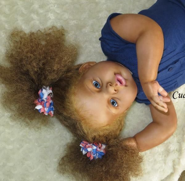 Aleigha - Biracial Reborn Toddler For Sale Arianna by Reva Schick: