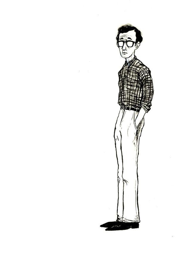 Woody Allen Portrait on Behance
