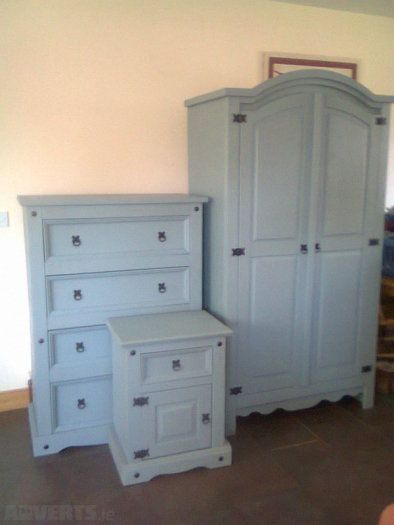 Upcycled Mexican Pine 3 Piece Bedroom Set With Farrow & Ball Paint