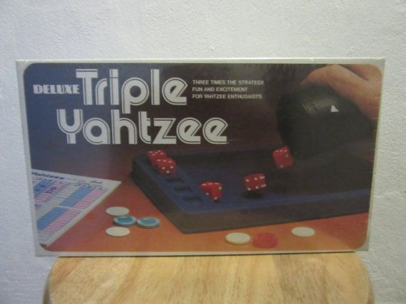 Deluxe Triple Yahtzee Unopened Vintage Board Game by UNBROKENPAST