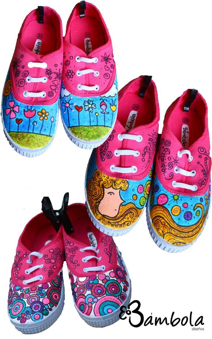 Bámbola Diseños: Zapatillas pintadas!