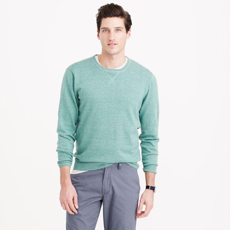Rugged cotton sweatshirt sweater : cotton   J.Crew