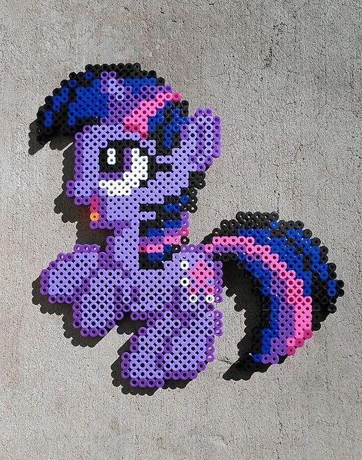 Filly Twilight Sparkle Perler beads by Hexfloog on deviantART