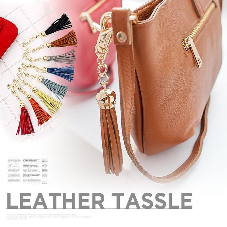 Fashion Women Lady Leather Tassle Handbag Holder Hook Hanger Bag Accessories #Handmade